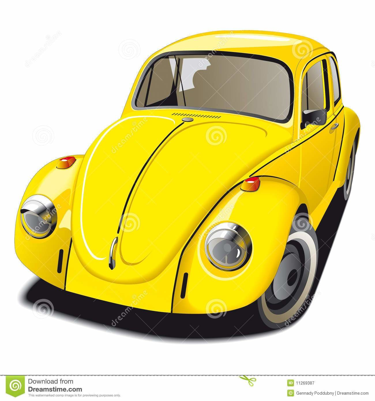 New Old Fashioned Yellow Car Stock Vector Illustration Of On This Month