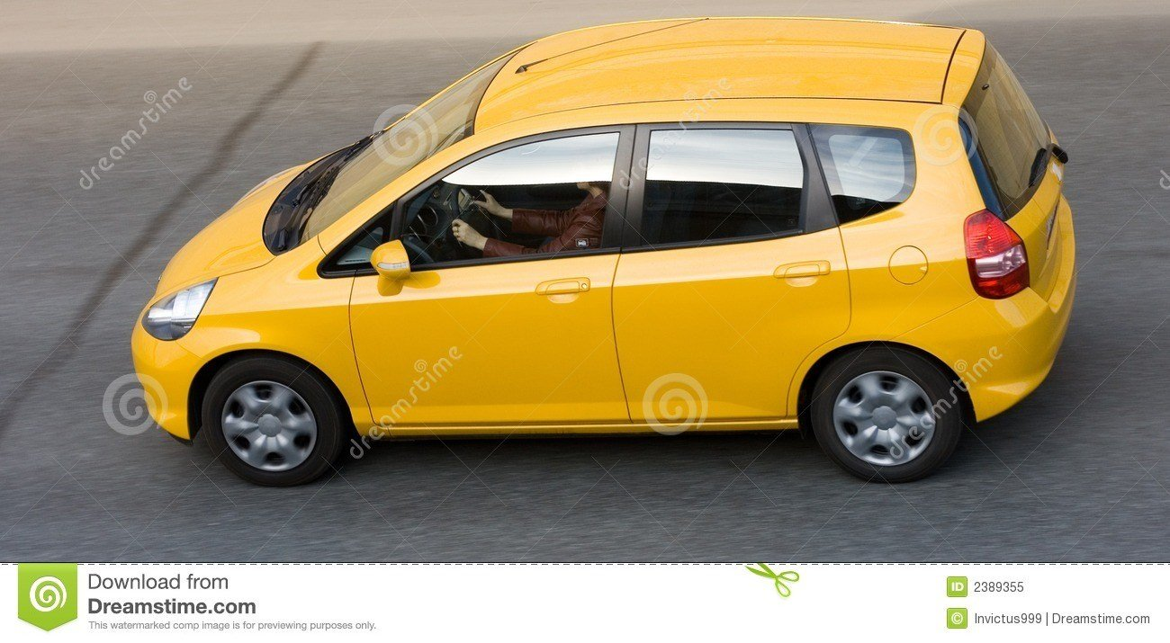 New Woman Driving Yellow Small Car Royalty Free Stock Photo On This Month