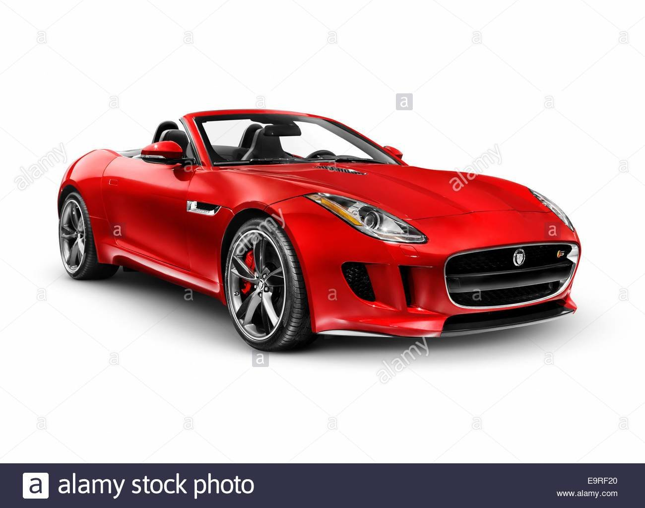 New Red 2014 Jaguar F Type S Luxury Sports Car Isolated On On This Month