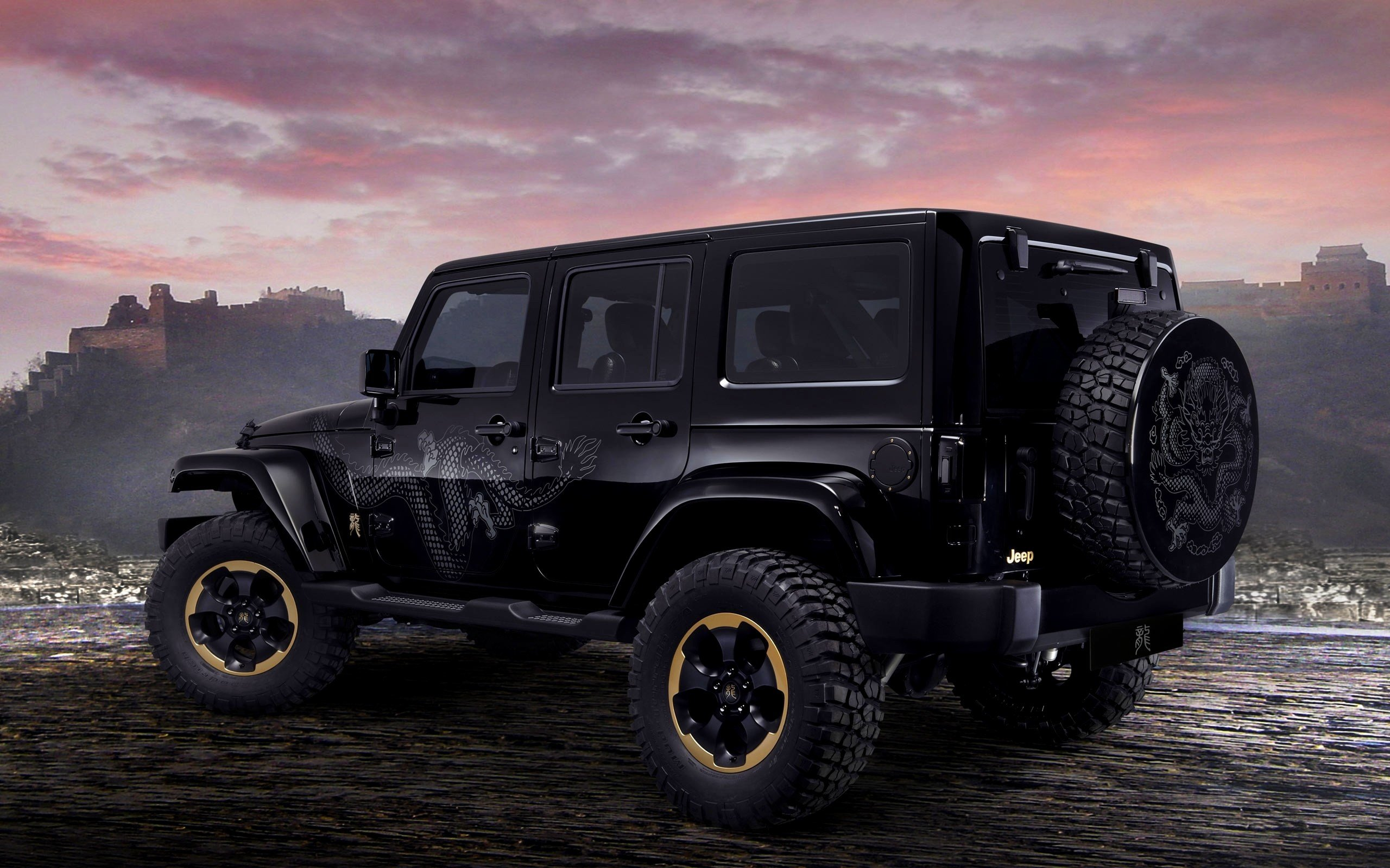 New Jeep Wrangler Dragon Design Hd Wallpaper Background On This Month