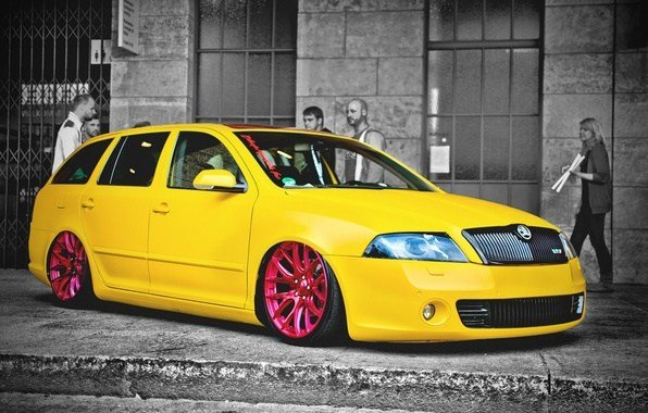 New Wallpaper Car Cars Skoda Yello Images For Desktop On This Month