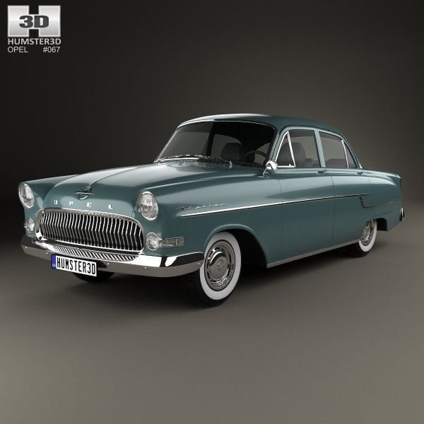 New Opel Kapitan 1956 3D Model From Humster3D Com Opel 3D On This Month