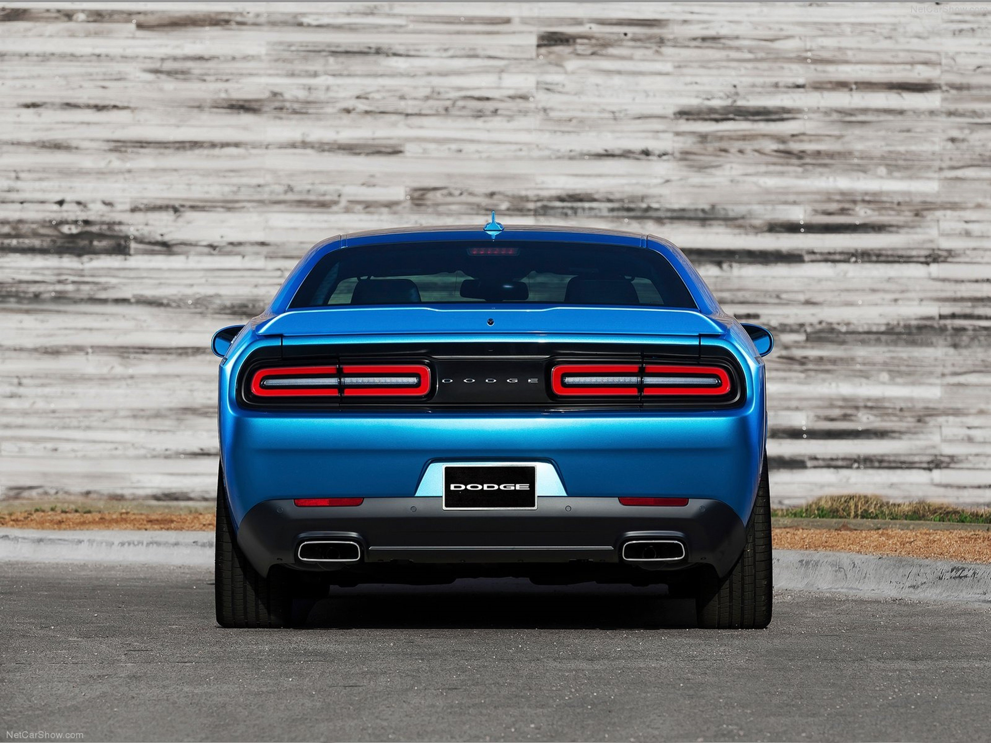 New Dodge Challenger 2015 Muscle Car Wallpaper Rear Blue On This Month