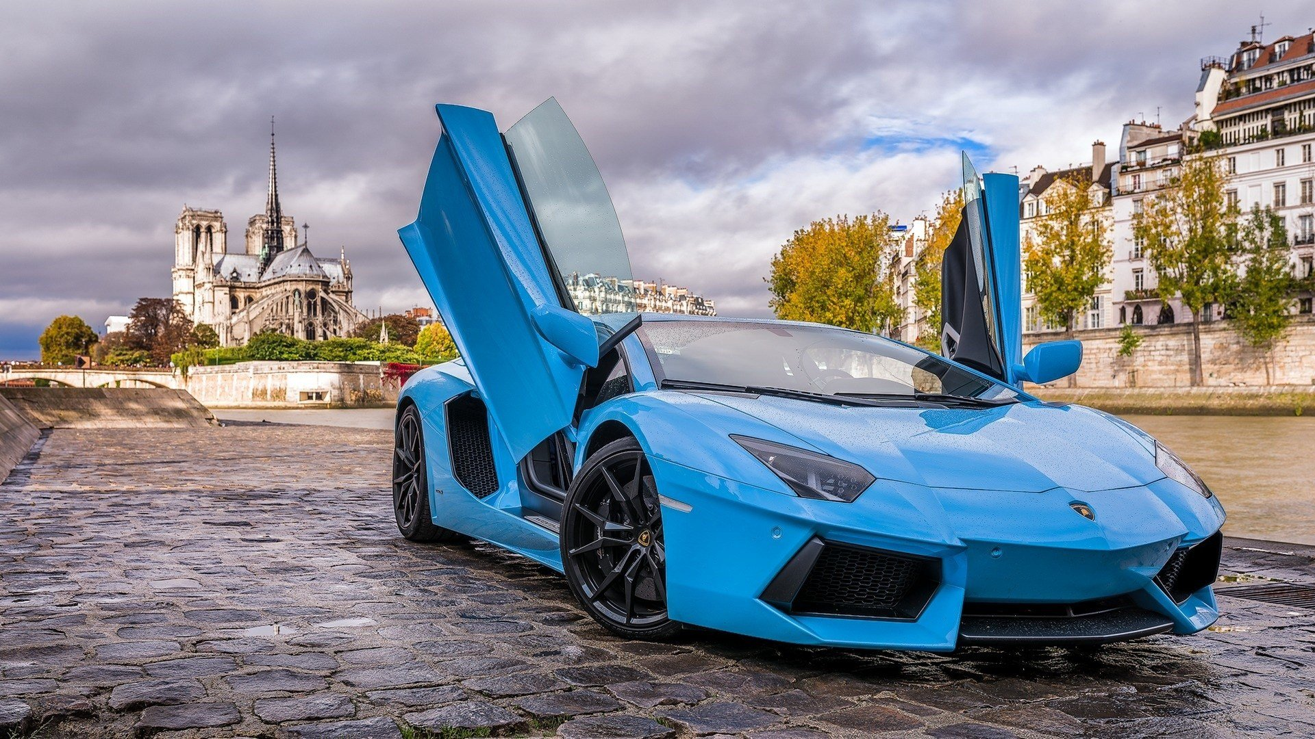 New Car Lamborghini Aventador Blue Cars Wallpapers Hd On This Month