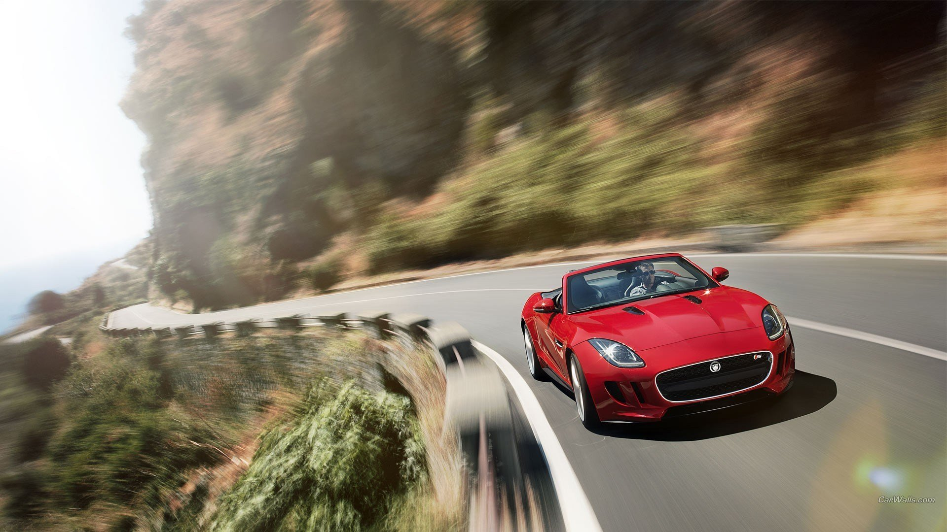 New Jaguar F Type Car Red Cars Motion Blur Wallpapers Hd On This Month