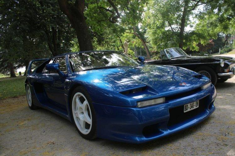 New Venturi Car Blue Sports Car Wallpapers Hd Desktop And On This Month