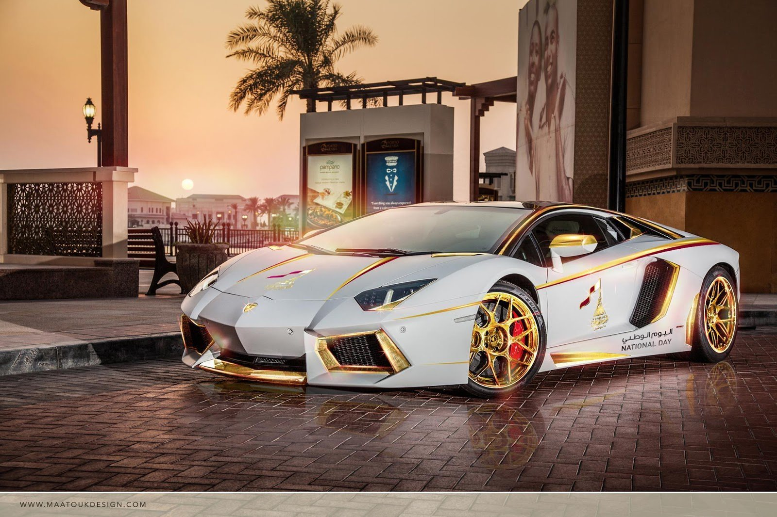 New Meet The One Off Gold Plated Lamborghini Aventador On This Month