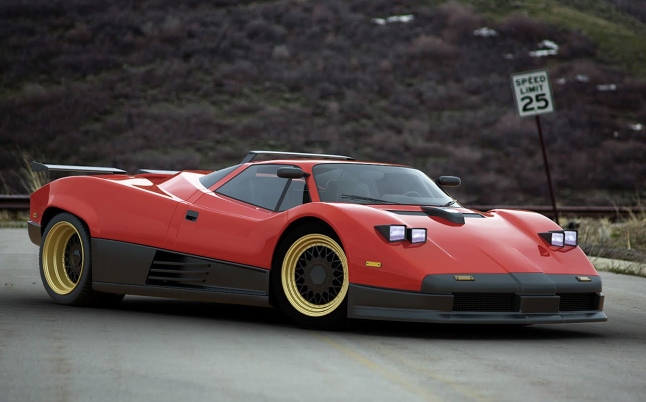 New Imagining The Pagani Zonda As A 1980S Supercar Carscoops Com On This Month