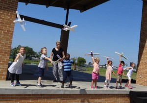 airplanes at the Strom Amphitheatre