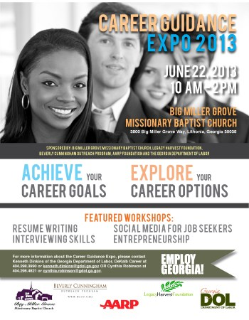 2013 Career Guidance Expo Flyer