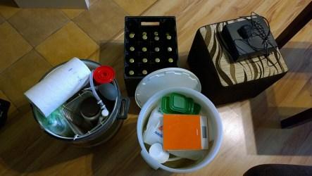 Część sprzętu do zabrania