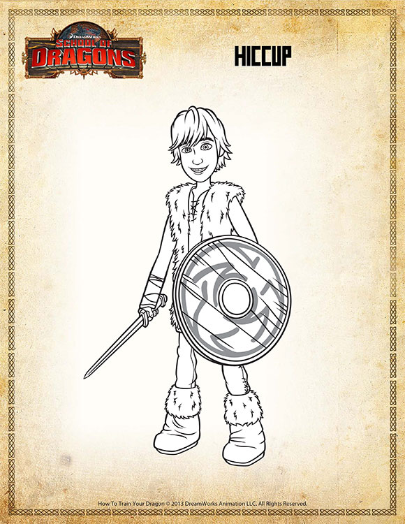 Color Hiccup View Fun Printable Vikings Coloring Page Sod