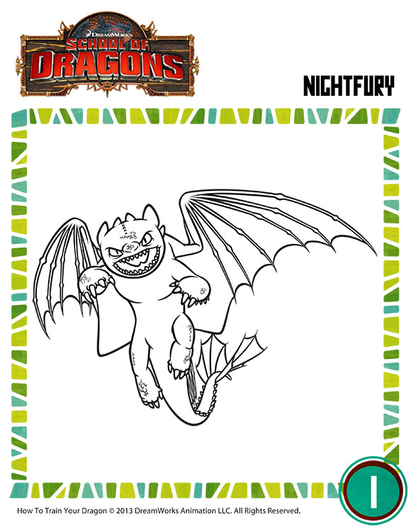 Color Night Fury View Toothless Coloring Page For Kids Sod