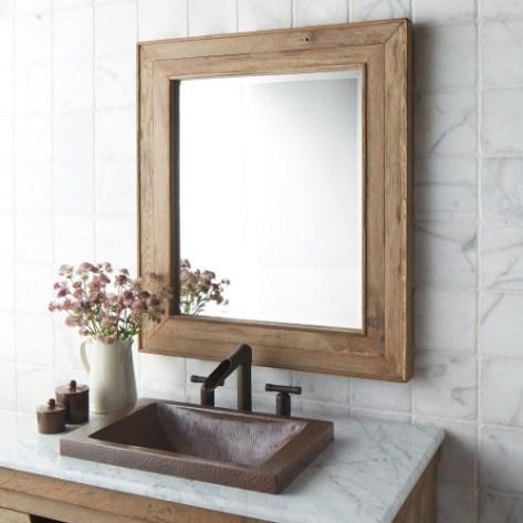 Frame Your Bathroom Mirror