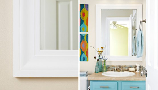 Frame Your Bathroom MirrorFrame Your Bathroom Mirror