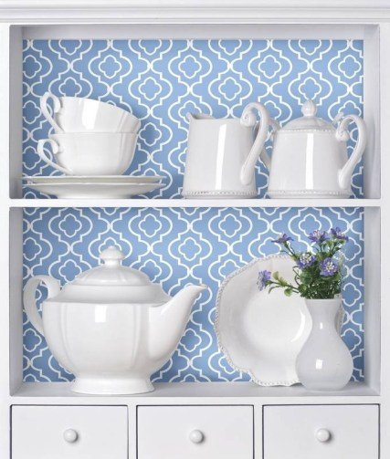 Installing Wallpaper to the Backside of Your Wall Cabinets 2