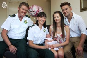 BABY BORN IN LIFT NAMED AFTER PARAMEDIC 3