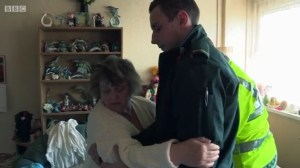Stroke patient Catherine with Sam