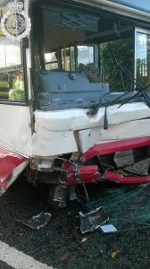 Car and bus collide in Tipton 1