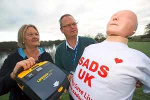 Defibrillator donated to Shropshire cafe
