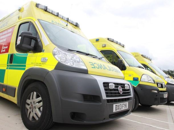Ambulances parked
