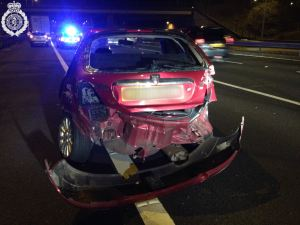Drivers lucky escape from smashed car 22-03-15