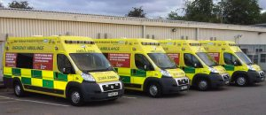 Four Ambulances at Stafford cropped