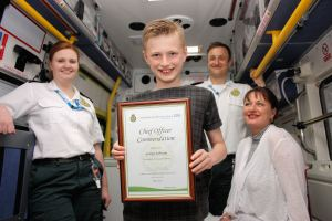 11 year old George commended for calling 999 for unwell mum 1