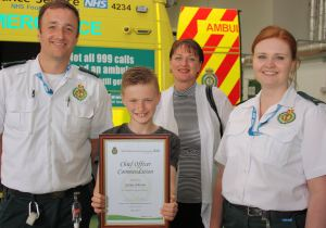 11 year old George commended for calling 999 for unwell mum 2