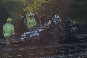Burton Level Crossing Crash 1 (20-07-15)