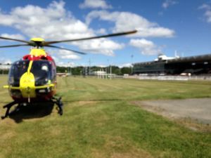 Jockey airlifted from Wolverhampton racecourse 1