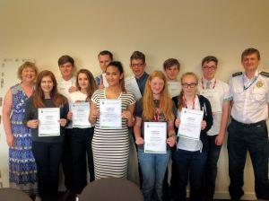 Students go behind the 999s for work experience week 1