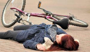 Cyclist unconscious 2