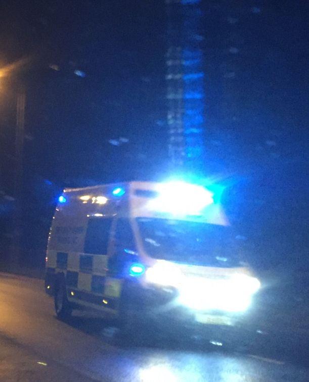 Ambulance on Blues at Night