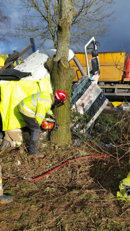 Lorry Driver trapped in Old Colwall 2