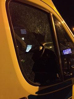 New Year Smashed ambulance in Birmingham
