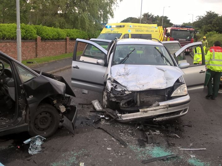 Taxi collision injures four in Walsall