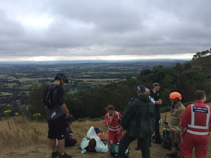 Injured cyclist rescued from malvern hills