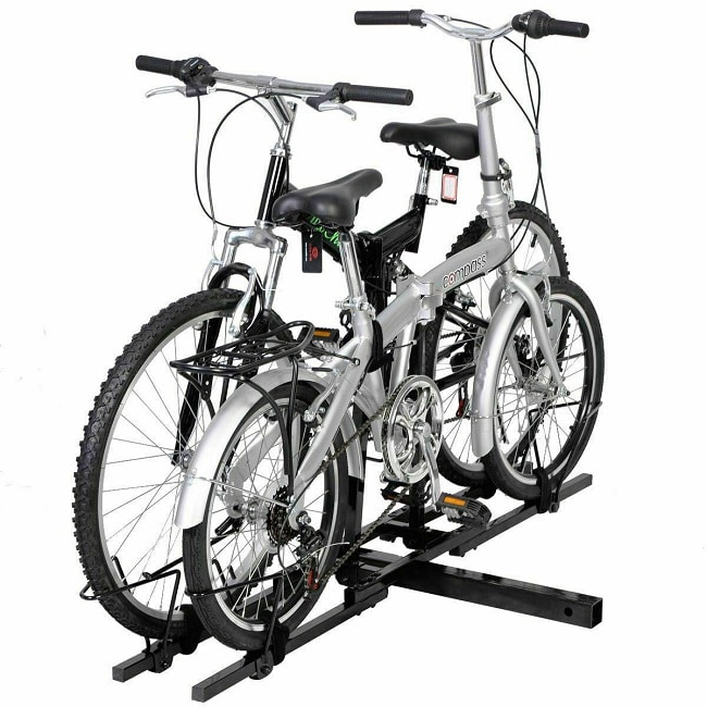 heavy duty 2 bike bicycle 2 hitch mount carrier rack car truck suv