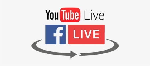 Facebook and Youtube Live icons