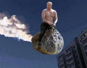 Vladimir Putin demonstrates a new theory