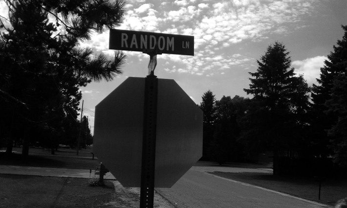 Anything could be at the end of this lane!