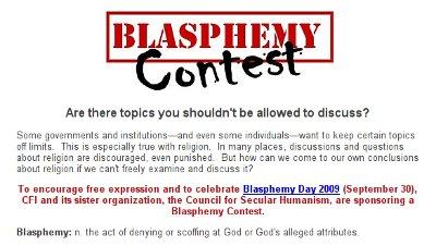 Blasphemy contest