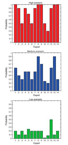 Climate Expert Probability for Scenarios