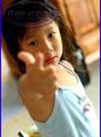 Dangerous child with Finger gun
