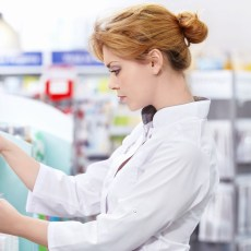 A young pharmacist at the pharmacy