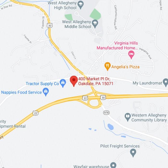 oakdale google map