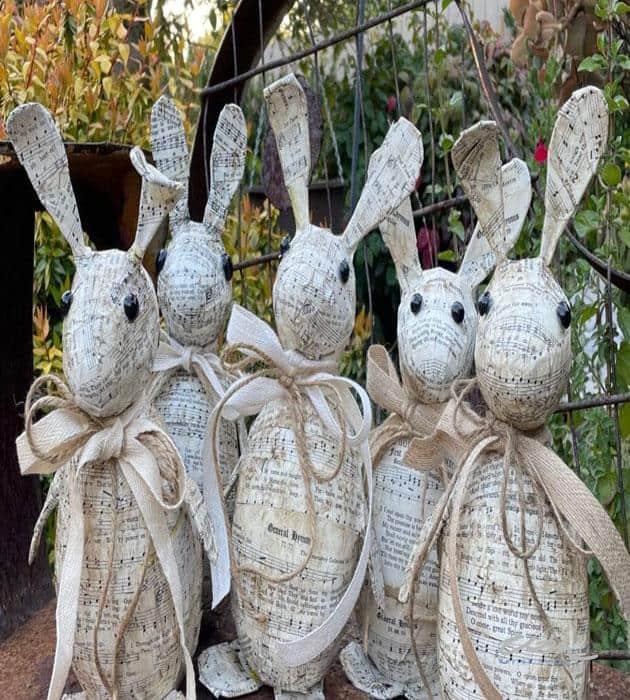 Easter Hymnal Music Rabbit Decor