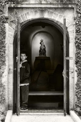 Boy at the Shrine of Our Lady of La Leche. Photographed by Kucku Varghese