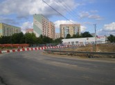 Budowa ulicy Obiegowej przy skrzyżowaniu z Żołnierską (3 lipca 2014)